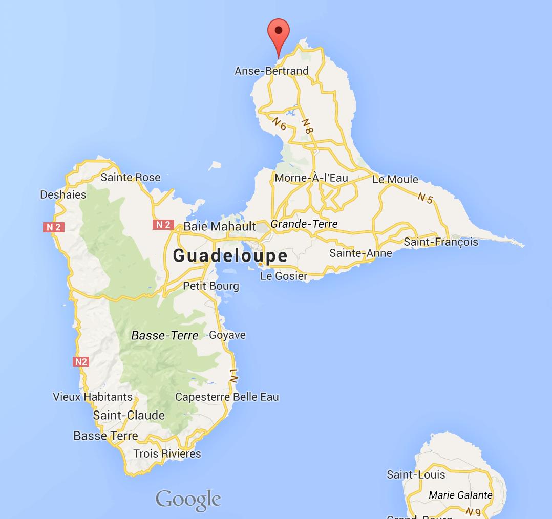 Anse Laborde Nord Ouest Grande Terre sur Google Maps