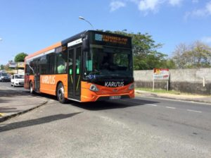 Bus Orange Karu'Lis à Montauban Gosier
