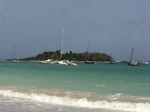 Ilet du Gosier et catamaran