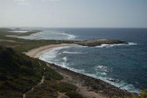 La plage de Grandes Salines à la Pointe des Chateaux en Guadeloupe