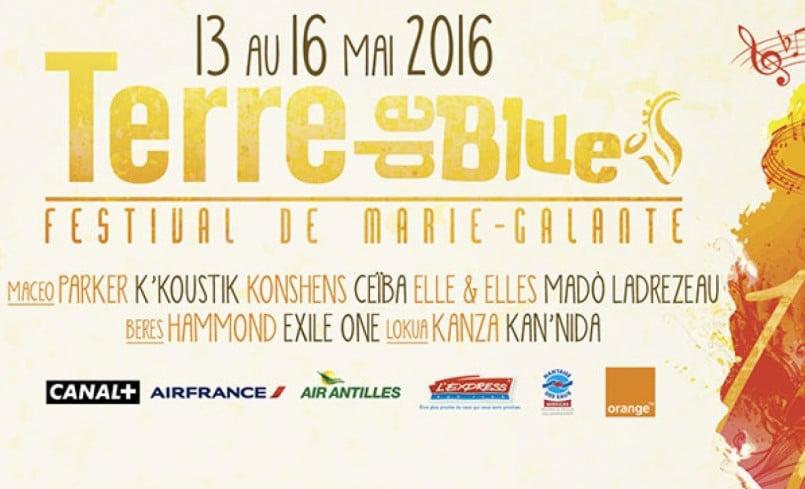 Programme du Festival de Blues Terre De Blues de Marie Galante
