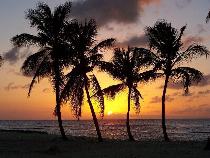 Coucher soleil romantique en Guadeloupe