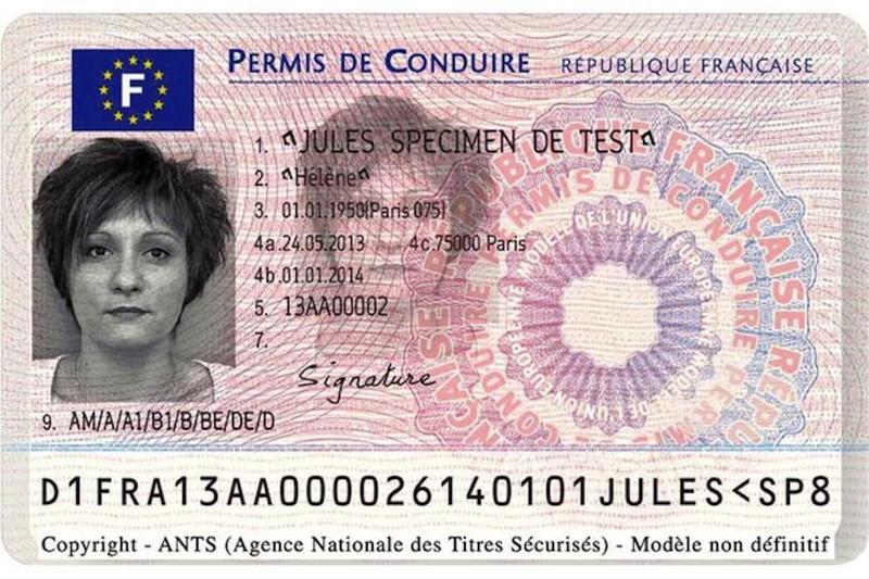 nouveau permis de conduire